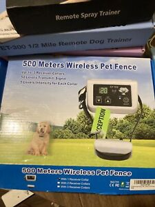500 Meter Wireless Rechargeable Electronic Pet Fence System Waterproof Collar.