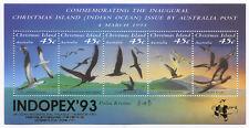 Christmas Island Souvenir Sheet Bird Stamps INDOPEX '93 OP Scott 349h - SG MS377