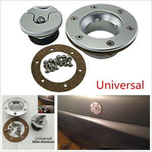 Universal Billet Aluminum Aircraft Style Fuel Cell Gas Cap With 6 Hole Anodized