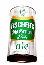 Vintage Fischer Ale 64-25 Pull Top Beer Can A1+ Soda Sign Flat Florida Tab Ofr