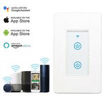 Interruptor de pared de luz Wifi 2 Gang funciona con la vida de seguridad hogar Alexa Google aplicación IFTTT