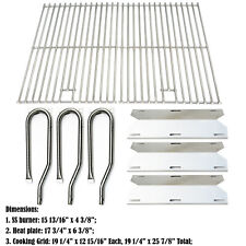 Replacement for Jenn Air Gas Grill 720-0336 Burners,Ss Heat Plates,Cooking Grids