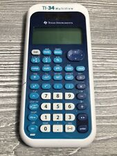 Texas Instruments TI-34 MultiView School Scientific Calculator Blue