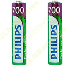 2 x AAA Rechargeable batteries for Philips SBC HB550S Headphones 700mAh NiMh