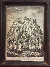 VIRGIN OF MONTSERRAT. ENGRAVING. JOSEPH FLAUGIER / AGUSTÍN SELLENT. SPAIN. 18TH