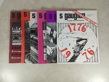 The S Gaugian Newsletter Magazine 1976-78 mixed lot 6 Issues Model Trains T33-B
