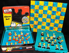 The Simpsons 3D Chess Set 20th Century Fox 1998 Complete Missing Instructions
