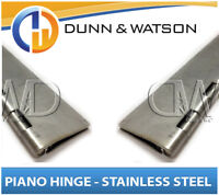 50mm Open Width Piano / Continuous Hinge - Stainless Steel (2400mm Long) Trailer