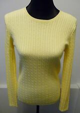 Magaschoni NWT Yellow Cable Knit Cotton Sweater Sz Med. 6-8 Neiman's Retail $220