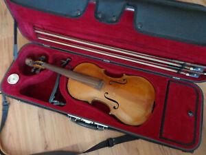 Alte Violine Geige 4/4 Stainer mit Löwenkopf