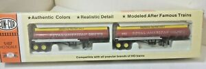 Royal American Circus 39' Tanker Trailers - 2 in Set - Con Cor 8137 HO Scale
