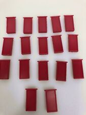 Domino Rally Racing replacement dominos with clips for track red 17
