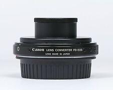 Rare Genuine Canon Lens Mount Converter FD-EOS Mint