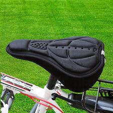 Cycling Bike Seat Cover Bicycle Soft Sponge Thick Saddle Cushion Pad Black