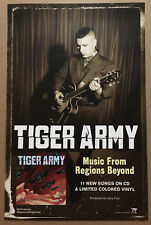 Tiger Army Rare 2007 Promo Poster for Regions Beyond Cd Mint Usa 11x17