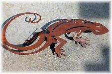 Edelrost Gekko Natur Gartendeko Metall Rost Terrasse 30cm Salamander Gecko