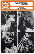 FICHE CINEMA : IVAN LE TERRIBLE - Cherkasov,Eisenstein 1944 Ivan Grozny