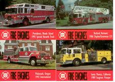 Complete Trading Card Set TRUCKS FIREMAN FIRE ENGINES SERIES 4 Bon Air//1994