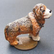 1:12 SCALA Brown & Nero Resina cane tumdee Casa delle Bambole Miniatura Pet Animali LP17