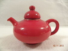 Vintage Beauceware Hayhoe Red Teapot made In Canada