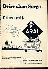 Aral--Reise ohne Sorge fahre mit Aral--Werbung von 1960