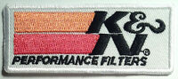 K&N PERFORMANCE AIR FILTERS PATCH EMBROIDERED IRON ON  auto racing suit jacket