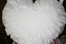 *Deko-Traeume* 1 romantisches Herz Deko Kissen - Kissenherz Weiß - Spitze