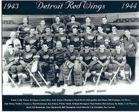 1943 1944 DETROIT RED WINGS 8X10 TEAM PHOTO HOCKEY NHL STANLEY CUP MICHIGAN HOF