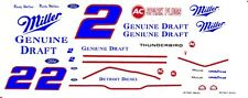 #2 Rusty Wallace Miller Ford 1/64th - Ho Scale Slot Car Decals