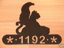 Griffin Metal Home Address Sign Wall House Mythology