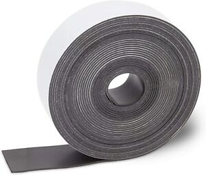 Magnetic Strip Tape 15Ft Flexible Roll ADHESIVE Refill Magnet Strong Sticky Back