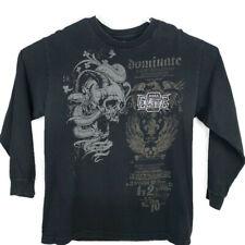 MMA Elite Mens Skull Snake Long Sleeve Shirt  Large