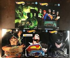 DC Comics 5 Car Set Alex Ross * 2018 Hot Wheels Pop Culture P Case