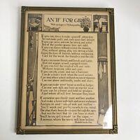 Vintage1924 Reinthal & Newman Print IF FOR GIRLS JP McEvoy Kipling Carved Frame