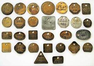 Mining 29 Miners Private Collection Pit Colliery Tally Check Lamp Token NCB