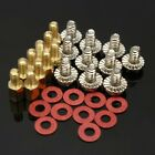 10Pcs 6.5mm Brass Standoff 6-32-M3 PC New Case Motherboard Riser+Screws+Washers