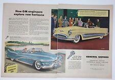 Original Print Ad 1950 GM General Motors Le Sabre Auto  2 Page Convertible