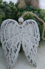 Alas de ángel madera para decoración Navidad Blanco / gris Shabby Chic Cottage
