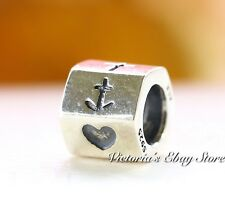 Authentic Pandora Sterling Silver Faith, Hope & Love Charm 790119