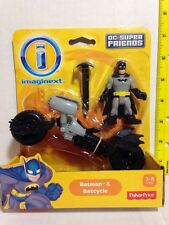 IMAGINEXT BATMAN BATCYCLE BAT-POD DC SUPER FRIENDS FISHER PRICE *SHIPSWORLDWIDE*