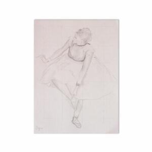Fine watercolor of Edgar Degas