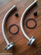 2 Pk Military Army 5 Gallon Jerry Gas Can Flexible Metal Nozzle Blitz Usmc Spout