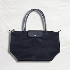 Longchamp New Le Pliage Nylon Tote Handbag NEO Néo Large Authentic France Black