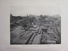 1918 WWI WW1 PRINT ~ LARGE DUMP OF ENGINEER MATERIAL CAPTURED AT ROSIERES