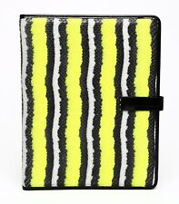 Marc by Marc Jacobs Yellow Black Leather Embossed Snake IPad Notebook Case 0125