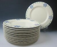 Lot of 12 Pfaltzgraff PFA36-BLUE SNOWFLAKES Dinner Plates EXCELLENT