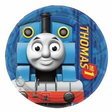 8 Thomas the Tank Engine Blue Paper Birthday Party Plates Tableware