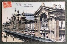 CPA. PARIS. 75 - GARE DU NORD. 1910.