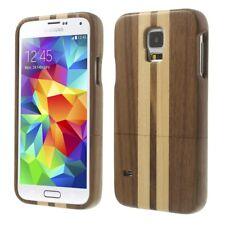 Samsung Galaxy S5 G900 Hard Case Echt Holz Real Wood Stripes Schutz Hülle Cover