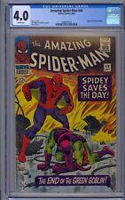 AMAZING SPIDER-MAN #40 CGC 4.0 GREEN GOBLIN ORIGIN WHITE PAGES
